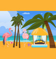 beach ocean coast summer resort background vector image