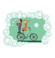bike bubbles vector image