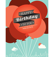 Birthday card design template vector image