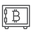 bitcoin storage line icon security and money vector image vector image