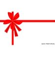 Black Friday Special Card with Red Ribbon vector image vector image