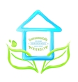 Blue house of jelly vector image