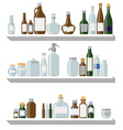 Bottles and jars vector image vector image