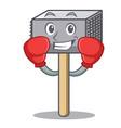 boxing character of metallic meat tenderizer vector image vector image