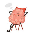 brain character emotion brain character sits and vector image vector image