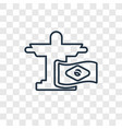 brazil concept linear icon isolated on vector image