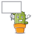bring board cute cactus character cartoon vector image vector image