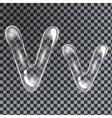 Bubbles letters V vector image vector image