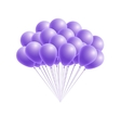 bunch birthday or party pink balloons vector image vector image