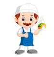 cartoon cute funny chef vector image vector image