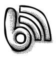 cartoon image of blog icon blogging symbol vector image vector image