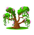 cartoon tree from a magical land vector image vector image