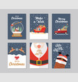 christmas gift cards collection vector image vector image
