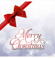 christmas greetings card with light background vector image vector image