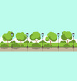 city park street lamp green lawn trees template vector image vector image