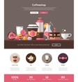 coffee shop cafe bakery website template vector image