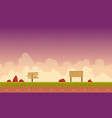 collection game background with purple sky vector image vector image