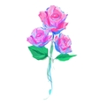 cute rose on white background vector image vector image