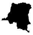 democratic republic of the congo - solid black vector image vector image
