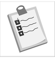 Diagnosis on paper icon black monochrome style vector image vector image