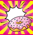 donut icon cartoon vector image vector image