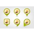 Ears of Wheat Barley Rye Field flat map pin icon vector image vector image