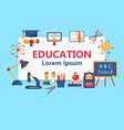 education horizontal flat banner vector image vector image
