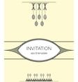 elegant minimalistic design invitation vector image vector image