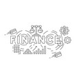 finance flat line design concept vector image