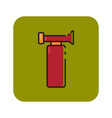 flat color air horn icon vector image