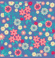 flat flowers seamless pattern background vector image