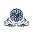 flower elegant icon initial c vector image vector image