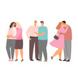 gay lesbian and heterosexuality couples vector image