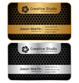Golden silver honeycomb business card vector image vector image