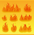 graphic flames isolated vector image vector image