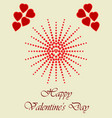 happy valentines day with heart halftone vector image