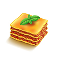 Lasagna isolated on white vector image