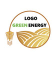 logotype of agriculture logo with a field of vector image vector image