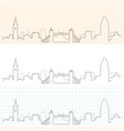 london hand drawn skyline vector image vector image