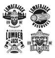 lumberjack set black vintage emblems vector image vector image