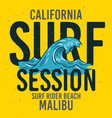 malibu surf rider beach california surfing surf vector image vector image