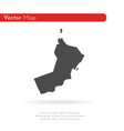 map oman isolated black on vector image