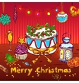 Merry Christmas Sketch Card vector image