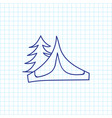 of camping symbol on tent vector image