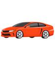orange sports car luxury model flat vector image
