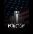 patriot day poster with candle new york vector image vector image