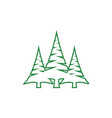 pine tree clip art graphic design template vector image vector image