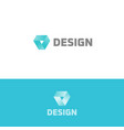 prism icon design simple flat abstract logo vector image