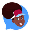 profile icon african american female head in chat vector image vector image