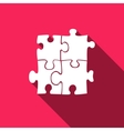 Puzzles icon with long shadow vector image vector image